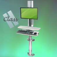 ErgonoFlex INTOP 9 H Class Combo Medical Station, Adjustable in height, wall mount
