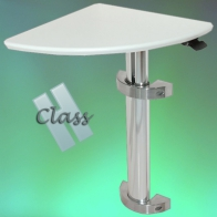 ErgonoFlex Medical Station Corner Table INTOP 8 H Class Adjustable In Height Wall Mount