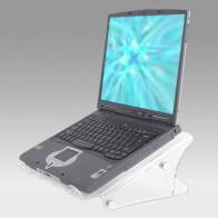 ErgonoFlex Height-adjustable laptop enhancer from 134 to 204 mm