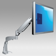 ErgonoFlex Professional Monitor with Parallel Gas Spring and Extension, Desk Mount