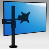ErgonoFlex Dynamic arm for screen with double extensions on pole mounting desk