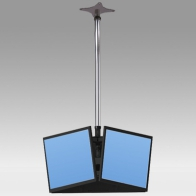 "ErgonoFlex Ceiling Stand Column 3 meters for 3 screens 32 ""- 57"" 35Kg"