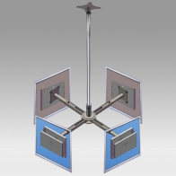 "ErgonoFlex Ceiling Stand Column 3 meters for 4 screens 32 ""- 57"" 35Kg"