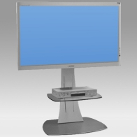 "Foot Stand Vision Curve 150 cm for 1 screen of 32 ""- 60"" 75 Kg"