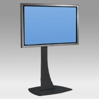 "Stand foot Vision Curve 120 cm for one screen of 32 ""- 80"" 100 Kg"