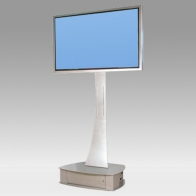 "Foot Stand Vision Curve 165 cm with case for 1 screen of 32 ""- 80"" 75 Kg"