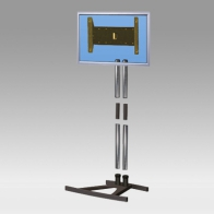 "Stand Stand Vision Tube 200 cm Removable for 1 screen of 32 ""- 80"" 60 Kg"