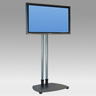 "Foot Stand Vision Tube 141 cm for 1 screen 32 ""- 80"" 80 Kg"