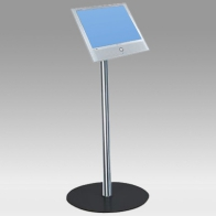 "Foot Stand Vision Tube 100 cm for 1 screen of 24 ""- 32"" 15 Kg"