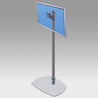 "Foot Stand Vision Tube 165 cm for 1 screen of 24 ""- 32"" 15 Kg"