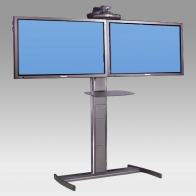 "ErgonoFlex Foot Stand, Vision Pro 150 cm for 2 screens side by side 32 ""- 60"" 75 Kg"