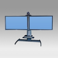 "ErgonoFlex Foot Stand, Vision Pro 100 cm for 2 screens side by side from 32 ""- 60"" to 75 Kg"