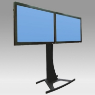 "ErgonoFlex Foot Stand Vision Curve 150 cm for 2 screens side by side from 32 ""- 60"" to 75 Kg"