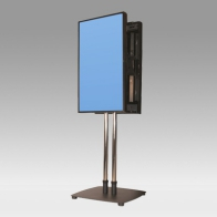 "Foot Stand Vision Tube 150 cm for 2 back-to-back screens from 32 ""- 80"" 80 Kg"