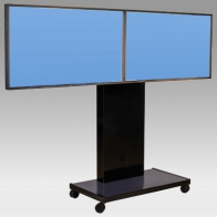 "ErgonoFlex Foot Stand Vision HD 150 cm for 2 screens side by side from 30 ""-57"" 80 Kg"