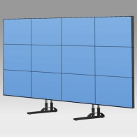 "ErgonoFlex Foot Stand, Vision Tube 205 cm for 12 screens of 40 ""- 55"" 35 Kg"