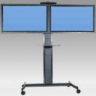 "ErgonoFlex Stand Vision Pro Cart 150 cm for 2 screens side by side 32 ""- 60"" 75 Kg"