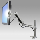 Monitor arm, desk-mounted with spring 1 extension
