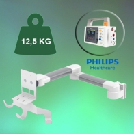 ErgonoFlex Horizontal Medical Arm 2 x 300 mm for monitor Philips Intellivue MP2 / X2 pole mounting of 23-40 mm
