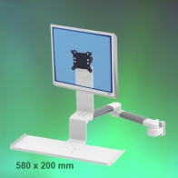 ErgonoFlex Medical Combo Standard Arm, Horizontal, adjustable in depth, 2 x 300 mm wall mounting