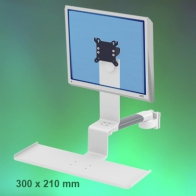 ErgonoFlex Medical Combo Standard Arm, Horizontal, adjustable in depth, 300 mm wall mounting