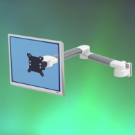 2 x 300 mm Horizontal Medical Monitor Arm, Wall Mount
