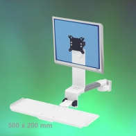 ErgonoFlex Medical Arm Combo Foldable and adjustable in depth, 240 mm, wall mounting