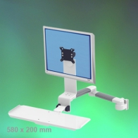 ErgonoFlex Medical Arm Combo Foldable and adjustable in depth, 2 x 300 mm, wall mounting