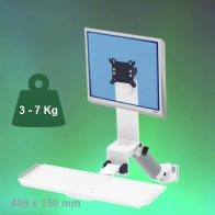 ErgonoFlex Medical Arm Combo Foldable and adjustable in height 300 mm wall mount