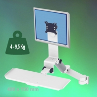 ErgonoFlex Medical Arm Combo Foldable and adjustable in height 300 + 240 mm wall mount