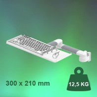 ErgonoFlex Swivel 2 x 300 mm Medical Arm for Keyboard and Mouse, Wall Mount on Vertical Slide Rail