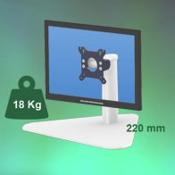 ErgonoFlex Medical Tubular arm of 220 mm for screen, to pose, on work plan