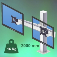 ErgonoFlex 2000 mm Medical Column Arm for 2 screens, Floor or Ceiling Mount