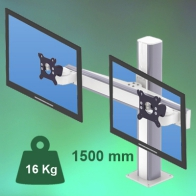 ErgonoFlex 1500 mm Medical Column Arm for 2 screens, Floor or Ceiling Mount