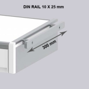 Din Rail 10 x 25 mm. Length 300 mm.