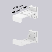 CPU holder Adjustable 45-70 mm mounting on Wall Rail