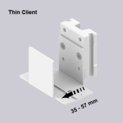 Universal Stand Adjustable 35-57 mm mounting on Wall Rail