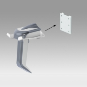 Holder for barcode hand shower Mounting on Wall Rail