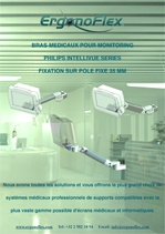 Our Medical Arms for Philips Intellivue Series Monitoring fixed pole mounting 35 mm